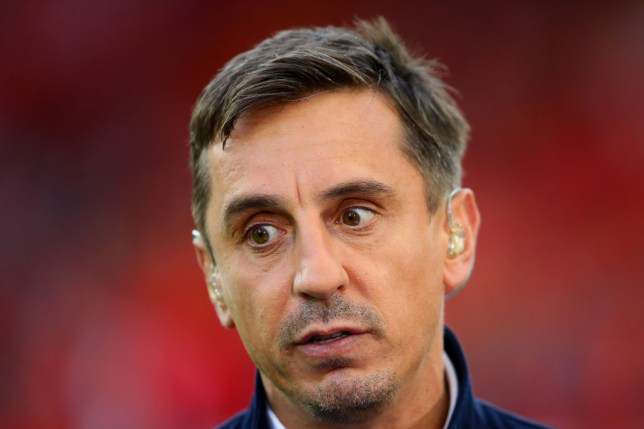 Gary Neville reacted to Manchester United's defeat to West Ham