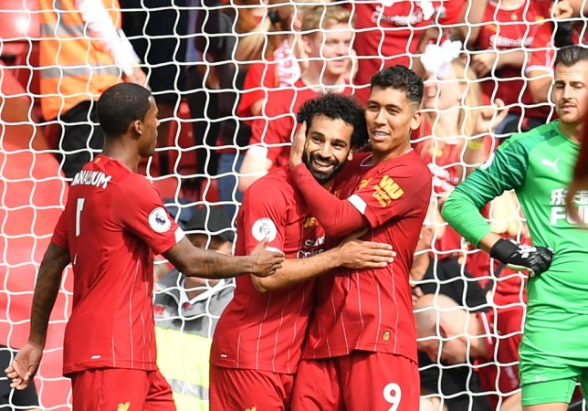 Roberto Firmino inspired Liverpool to their 14th straight Premier League win