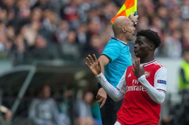 Bukayo Saka starred in Arsenal's Europa League win over Eintracht Frankfurt