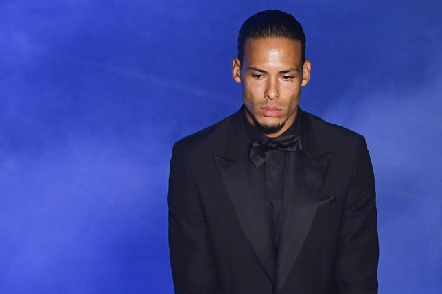 Virgil can Dijk looks on during the Fifa Best Football Awards