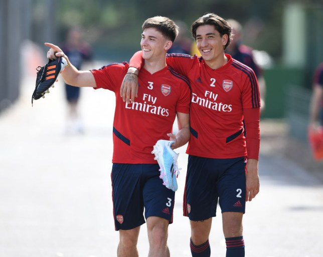 Arsenal full-backs Kieran Tierney and Hector Bellerin are closing in on their returns