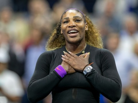 Serena Williams reacts after booking spot in 10th US Open final