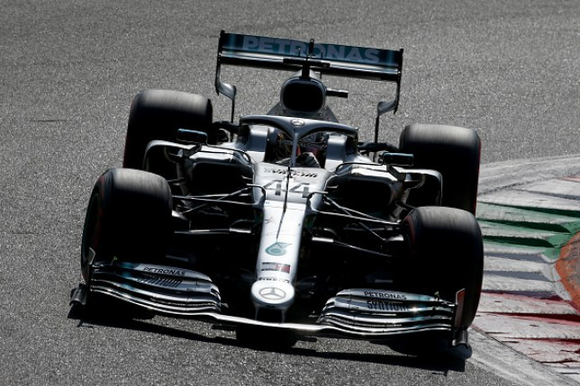 Lewis Hamilton driving the (44) Mercedes AMG Petronas in Italy