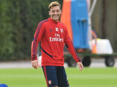 Arsenal boss Unai Emery left unimpressed with Mesut Ozil in training as transfer exit looms