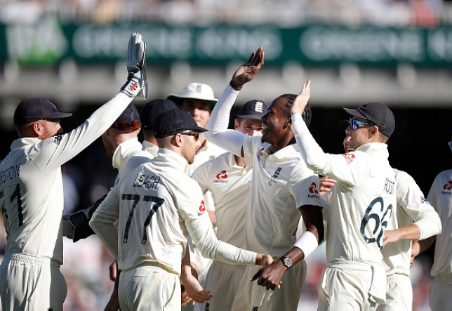 Jofra Archer helped England take control of the fifth Ashes Test