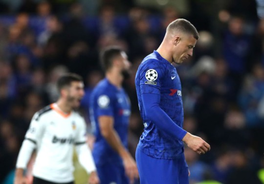 Ross Barkley will miss the Champions League clash against Ajax