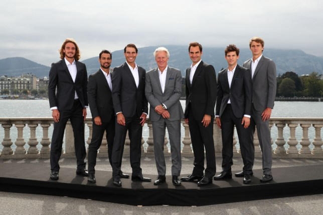 Team Europe including Roger Fderer and Rafael Nadal pose together ahead of the Laver Cup