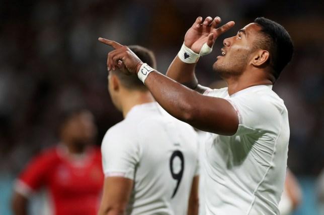 Manu Tuilagi scored two of England's four tries against Tonga