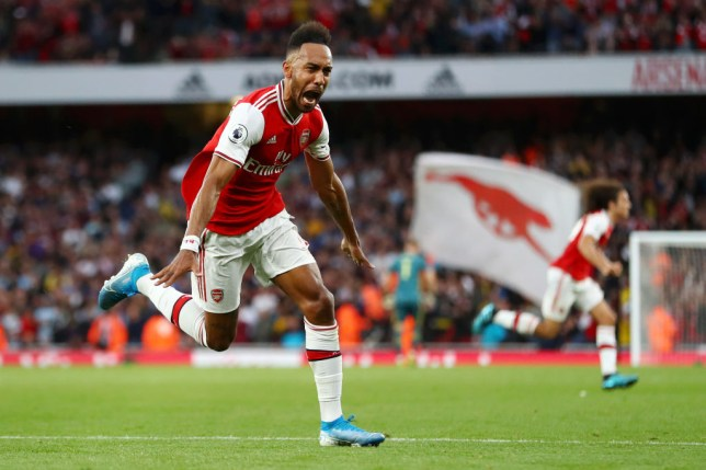 Pierre-Emerick Aubameyang scored Arsenal's winner