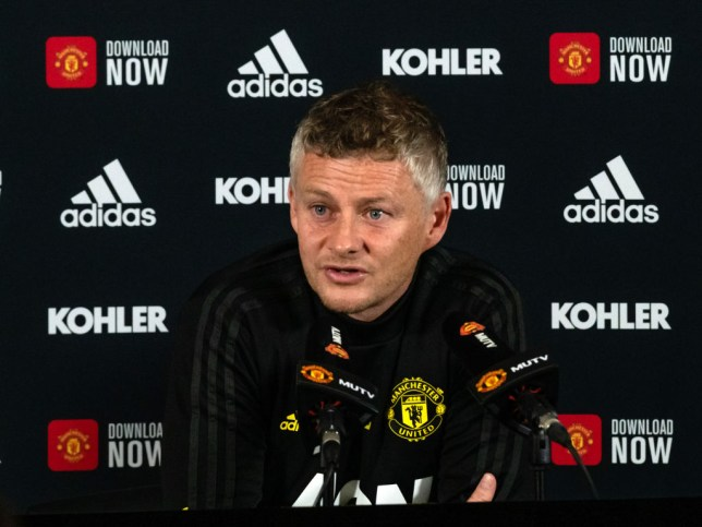 Ole Gunnar Solskjaer addressing the media ahead of Manchester United's game against Arsenal
