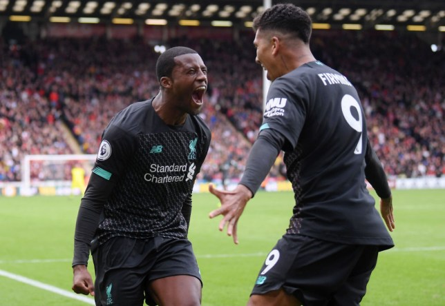 Georginio Wijnaldum scored Liverpool's winner in the second half of their Premier League clash with Sheffield United