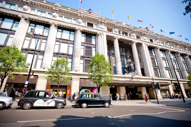selfridges on Oxford Street, London