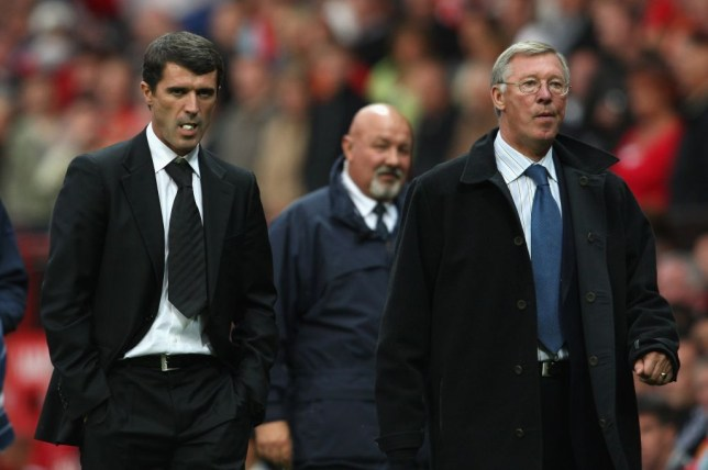 Roy Keane and Alex Ferguson