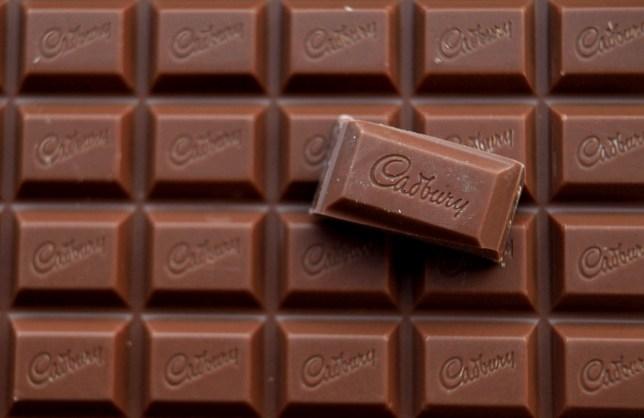 Cadbury chocolate close up