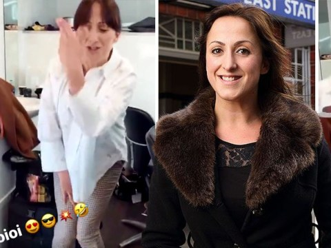EastEnders' Natalie Cassidy rapping and bopping behind-the-scenes is the ultimate Friday mood