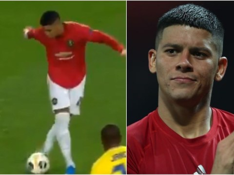 Marcos Rojo trolls himself over his rabona fail in Manchester United's Europa League win against Astana