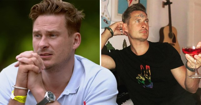 Lee Ryan on Celebs Go Dating and with a wine in his hand