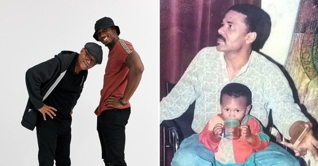 Ovie Soko and dad Raymond model for Asos