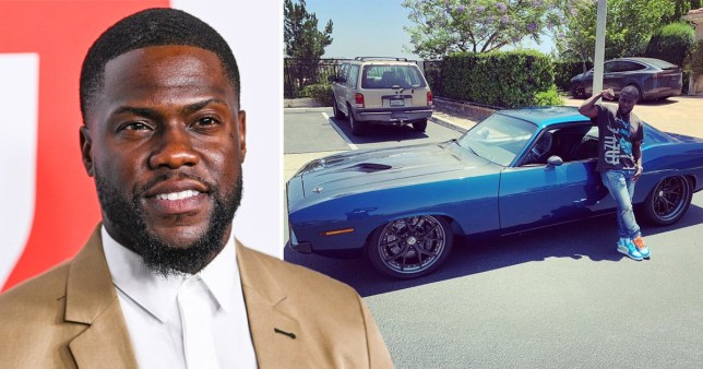 Kevin Hart and car