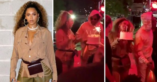 Stupendous Beyonce Gets Surprised By Jay Z In Early Birthday Celebrations Personalised Birthday Cards Veneteletsinfo