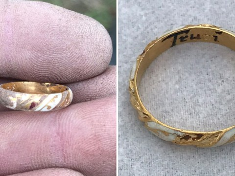 Grandma with metal detector discovers 'William Shakespeare's ring' in field