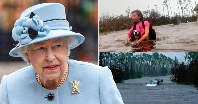 The Queen sent her condolences to Hurricane Dorian victims