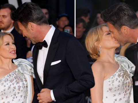 Kylie Minogue kisses boyfriend Paul Solomons as they step out for GQ Men Of The Year Awards