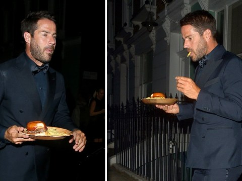 Jamie Redknapp savouring a burger and chips in the street after GQ Awards is relatable AF