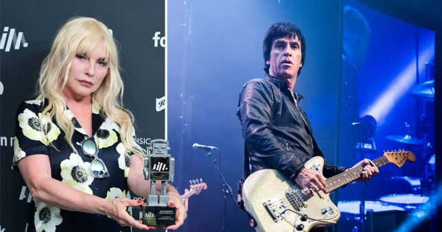Debbie Harry and Johnny Marr AIM Awards