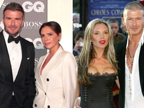 Style icons Victoria and David Beckham proving it really can be black and white all the way back to the 90s