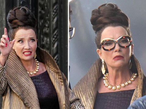 Emma Thompson is serving aristocrat realness as she films Cruella live-action prequel