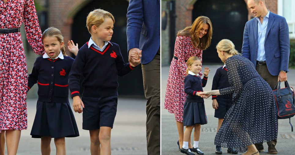 Princess Charlotte arrives for first day at school with
