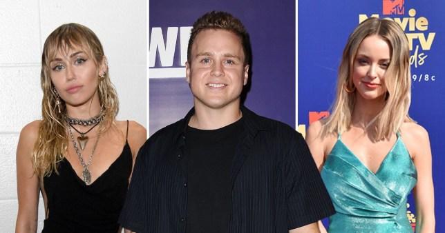 Miley Cyrus, Spencer Pratt and Kaitlynn Carter