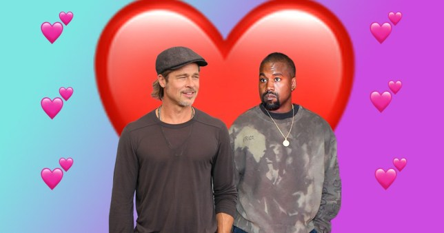 Brad Pitt and Kanye West's bromance