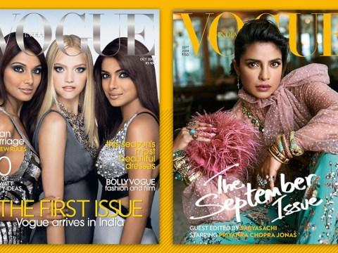 Priyanka Chopra stuns on Vogue India cover 12 years after appearing on debut issue