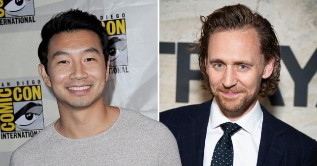 Tom Hiddleston gives Simu Liu advice on playing Marvel's