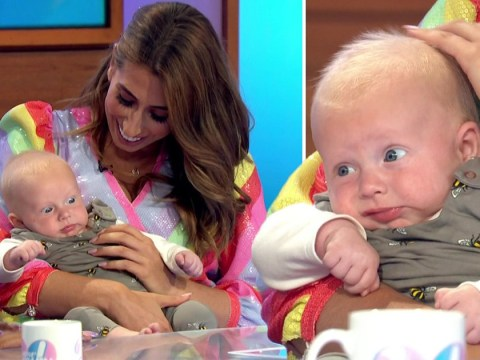 Stacey Solomon brings newborn baby Rex to Loose Women 20th anniversary celebrations and our hearts are throbbing