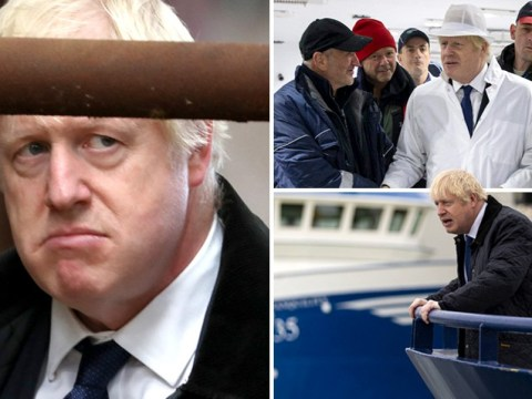 Boris Johnson sums up his week with this look