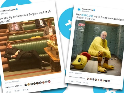 Conservatives and KFC in bizarre Twitter spat over 'chicken' Jeremy Corbyn