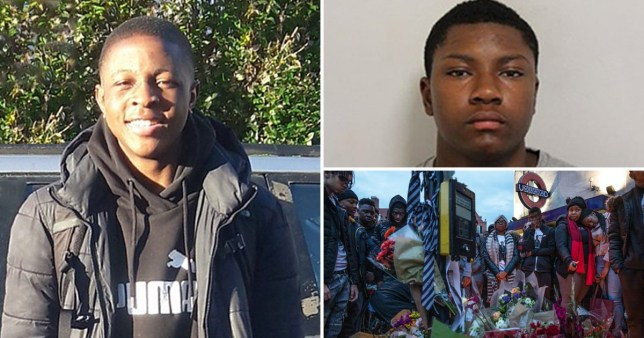 Malcolm Mide-Madariola who was knifed in the heart outside Clapham South station and picture of killer Tammuz Brown