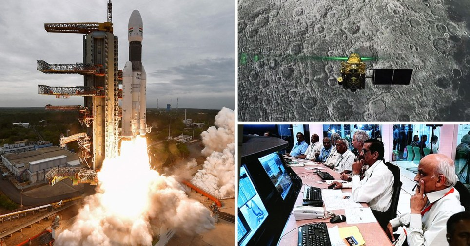 India's failed moon landing. Vikram lander lost contact just moments before touchdown