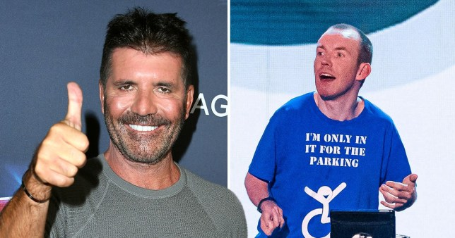 Lost Voice Guy and Simon Cowell