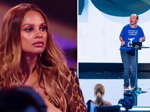 Alesha Dixon looks fuming as Lost Voice Guy is eliminated from Britain's Got Talent: The Champions