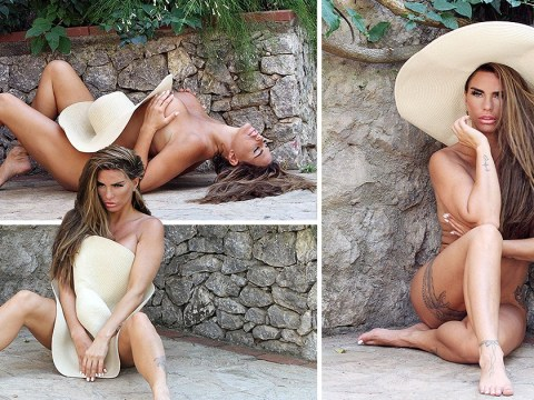 Katie Price poses for naked photoshoot on family holiday after gruesome surgery