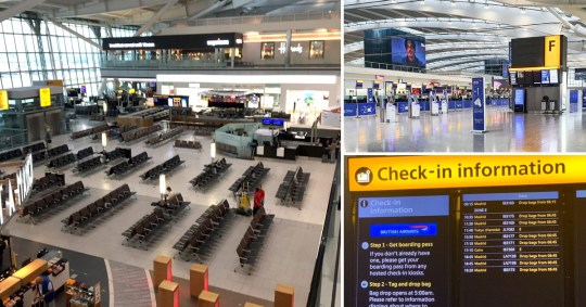 British Airways has told passengers that if they have a flight booked on Monday and Tuesday, it is likely they will not be able to travel as planned (Picture: @MikeGedye; LNP; Nick Dixon)