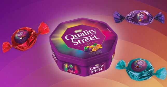 A tub of quality street