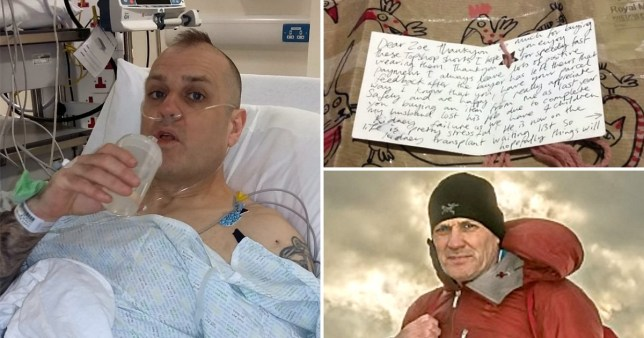 Ray in the hospital and the note he was sent