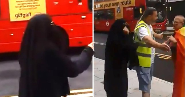 Video captured a woman shouting 'God created Adam and Eve, not Adam and Steve'