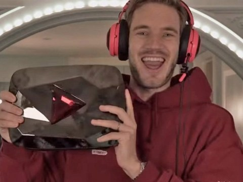 PewDiePie sets sights on 'a thousand million' YouTube subscribers after revealing rare Play Button plaque