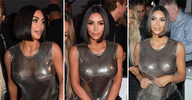 Kim Kardashian at Serena Williams' NYFW show